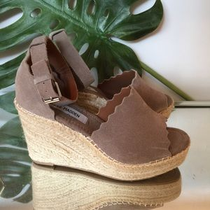 654922829e6 Steve Madden Shoes | Cerona Black Wedge Sandal Slingback | Poshmark